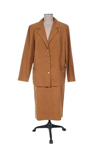 Veste/jupe marron REGINE pour femme