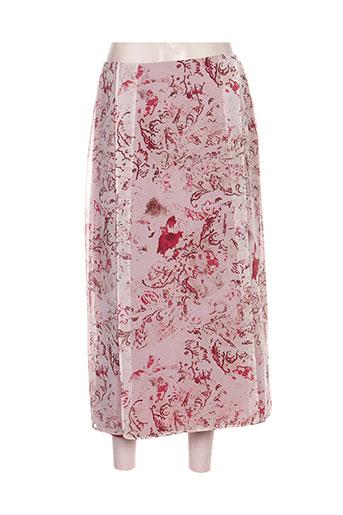 gerard pasquier jupes femme de couleur rouge