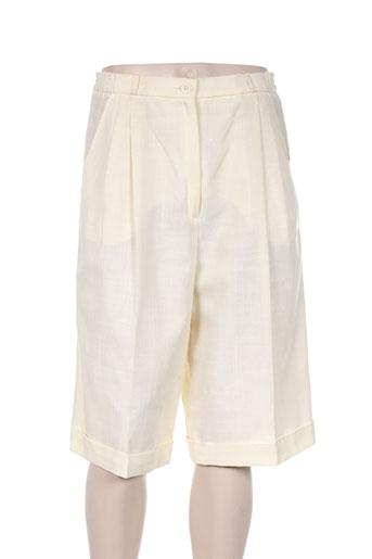 gerard pasquier shorts / bermudas femme de couleur beige