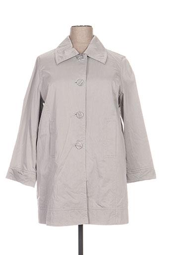 Manteau long gris ELENA MIRO pour femme