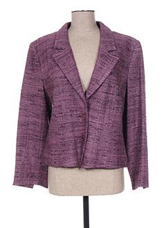 Veste casual violet FRANCOISE F pour femme