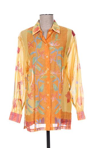 devernois chemises femme de couleur orange