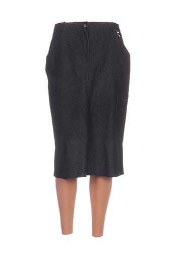 Jupe mi-longue bleu CLAUDE BAUER pour femme