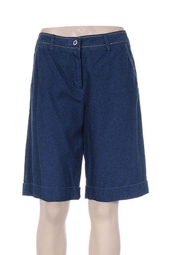 bleu de sym shorts / bermudas femme de couleur bleu