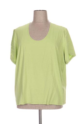 jean biolay t-shirts femme de couleur vert