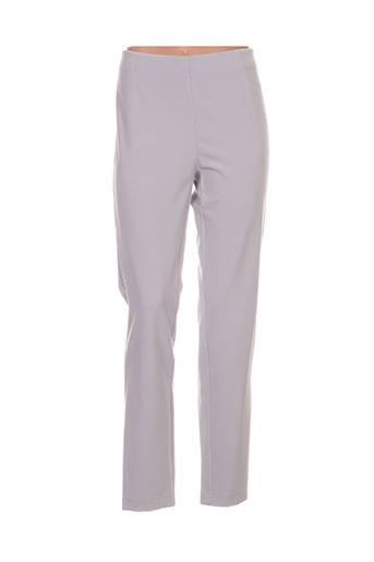 frank walder pantalons femme de couleur gris