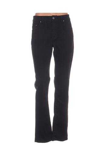 anna montana pantalons femme de couleur noir