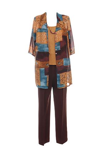 Veste/pantalon marron CREATIONS SONIA pour femme