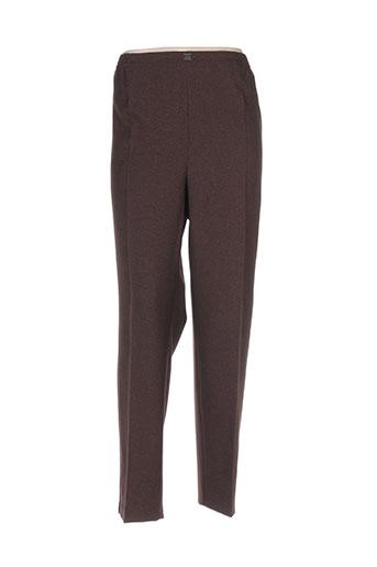 cph pantalons femme de couleur marron