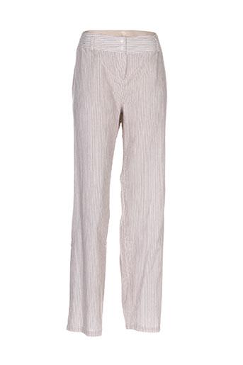 luisa viola pantalons femme de couleur beige