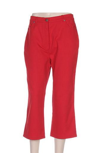 rabe pantacourts femme de couleur rouge
