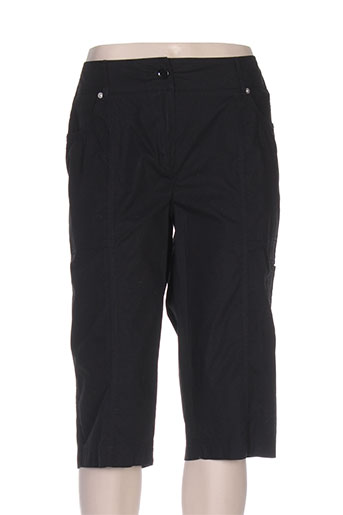 elena miro shorts / bermudas femme de couleur noir