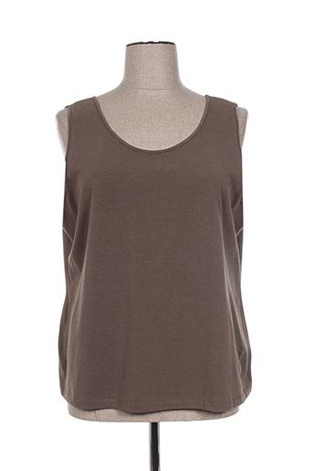 elena miro t-shirts femme de couleur marron