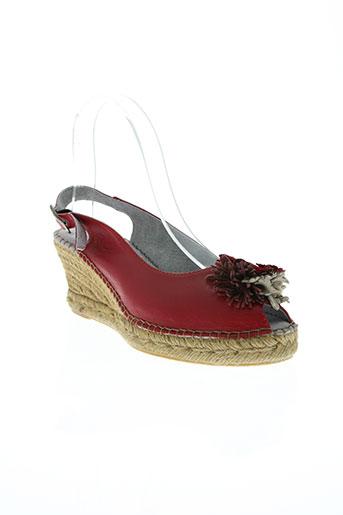 bruma chaussures femme de couleur rouge
