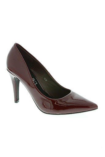 cassis cote d'azur chaussures femme de couleur rouge