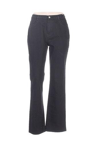 i.quing pantalons femme de couleur noir