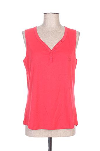 felino chemises femme de couleur rouge