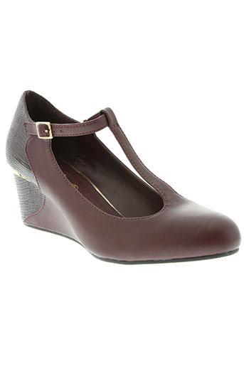 initiale paris chaussures femme de couleur rouge