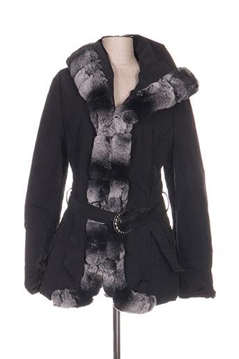 karen ritzi manteaux femme de couleur noir