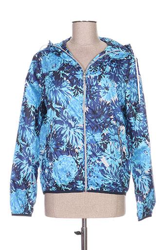gant manteaux femme de couleur bleu