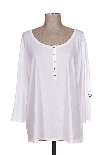 d.sport t-shirts femme de couleur blanc
