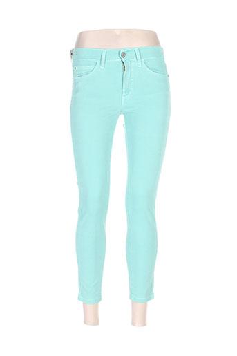 desgaste pantalons femme de couleur vert