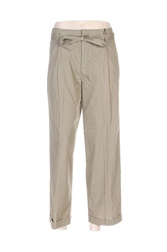 friday pantalons femme de couleur vert