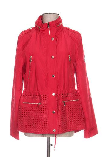 ananke manteaux femme de couleur rouge