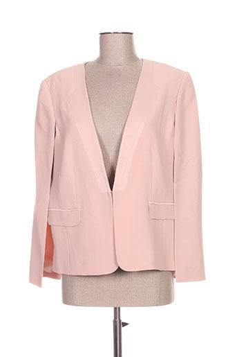 lea lau vestes femme de couleur rose