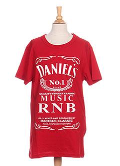 T-shirt manches courtes rouge DANIEL'S MUSIC pour homme