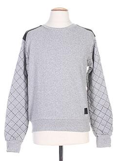 Sweat-shirt gris DANIEL'S MUSIC pour homme