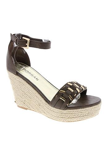 morgan chaussures femme de couleur marron