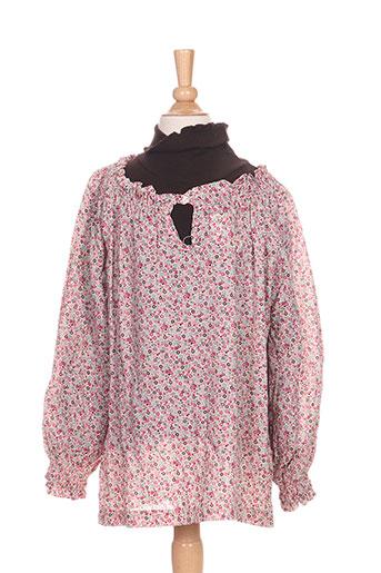 girandola chemises fille de couleur rose