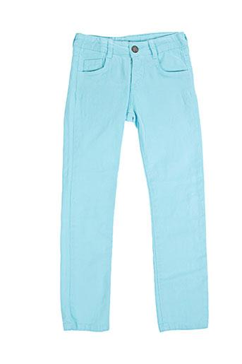 girandola pantalons fille de couleur bleu