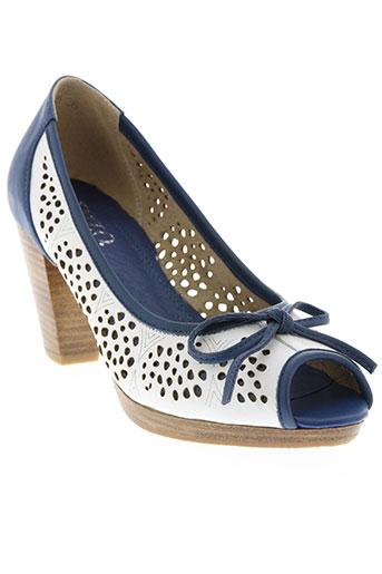 dizo chaussures femme de couleur bleu