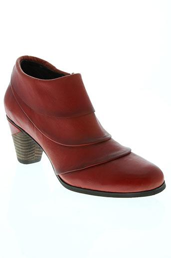 laura vita chaussures femme de couleur rouge
