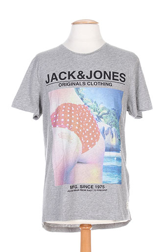 jack EFFI_CHAR_1 jones t-shirts homme de couleur gris