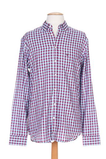 cambridge chemises homme de couleur bleu