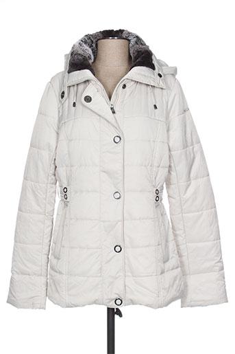 diane laury manteaux femme de couleur blanc