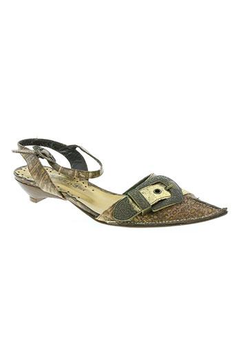 sanche de la rosa chaussures femme de couleur marron