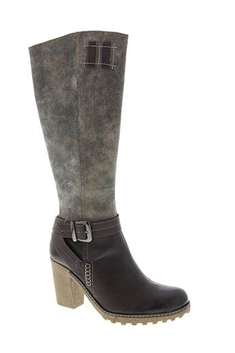 fugitive chaussures femme de couleur marron