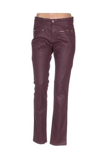 bruno saint hilaire pantalons femme de couleur rouge