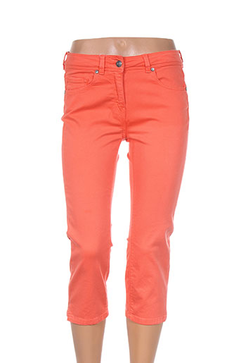 saint james pantacourts femme de couleur orange