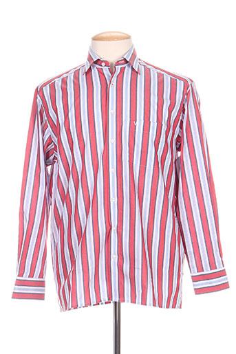 marvelis chemises homme de couleur rouge