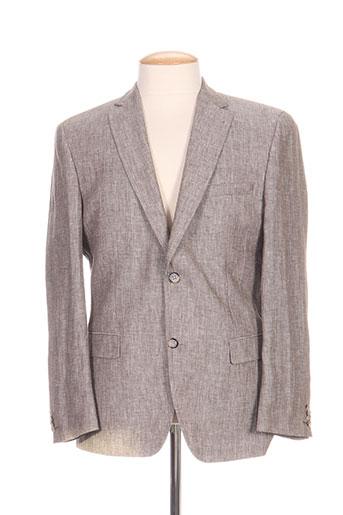 barutti vestes homme de couleur gris