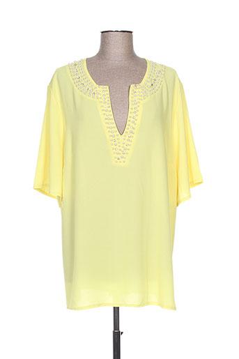 halo paris chemises femme de couleur jaune