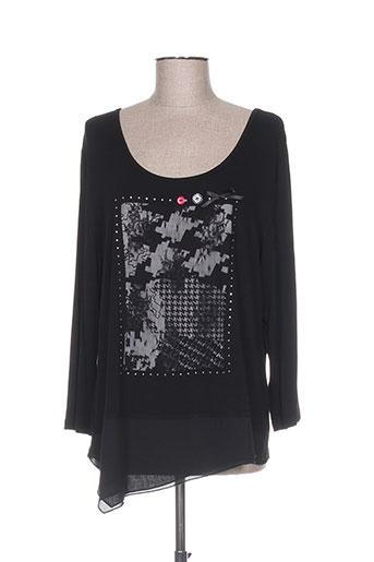 purplerose t-shirts femme de couleur noir