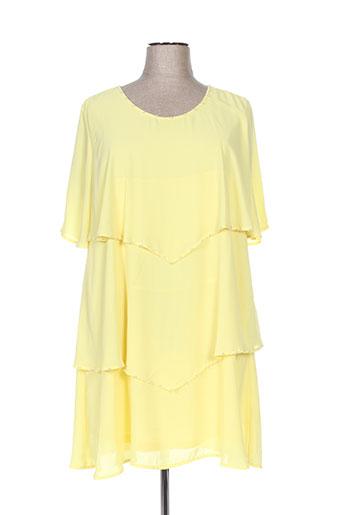halo paris robes femme de couleur jaune