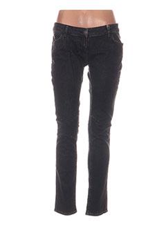 d6e9541fa8a3f Jeans Coupe Slim Femme De Couleur Noir En Soldes Pas Cher - Modz