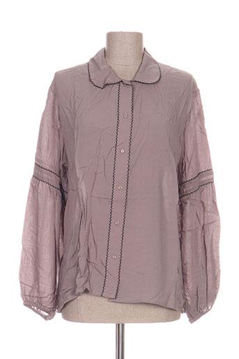 voriagh chemises femme de couleur gris
